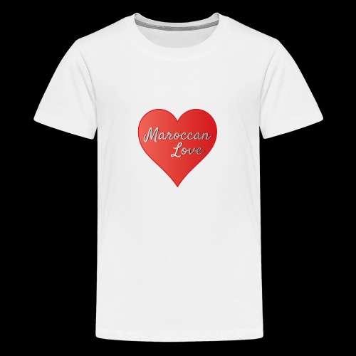 Maroccan_Love_LifeStyle Logo - Teenager Premium T-Shirt