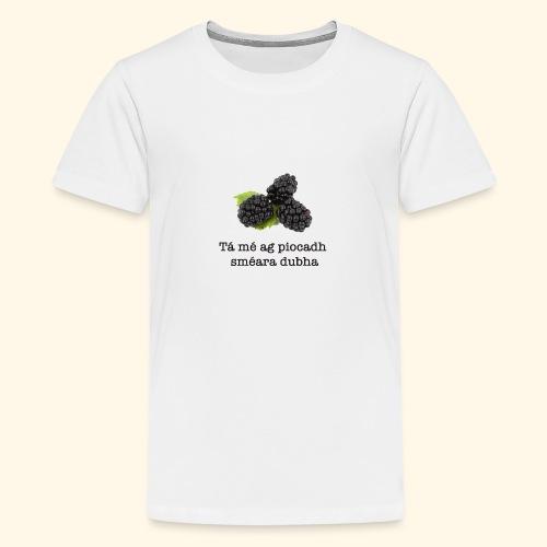 Picking blackberries - Teenage Premium T-Shirt