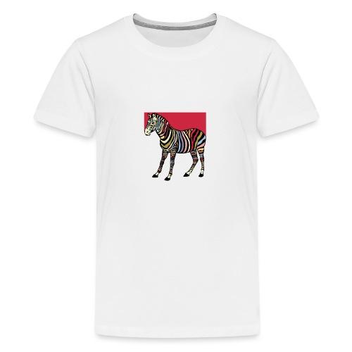 zebra tshirt design - Teenage Premium T-Shirt