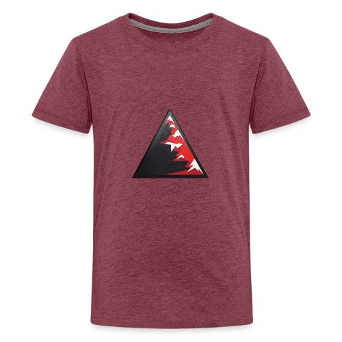 Climb high as a mountains to achieve high - Teenage Premium T-Shirt