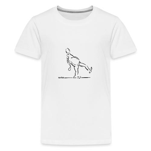 Lean Back Doodle - Teenage Premium T-Shirt