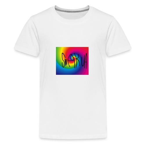 Swakua Logo Rainbow - Teinien premium t-paita