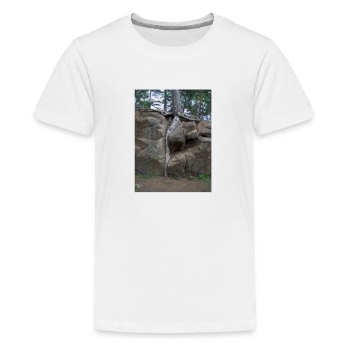 Juuret tukevasti maassa - Teinien premium t-paita