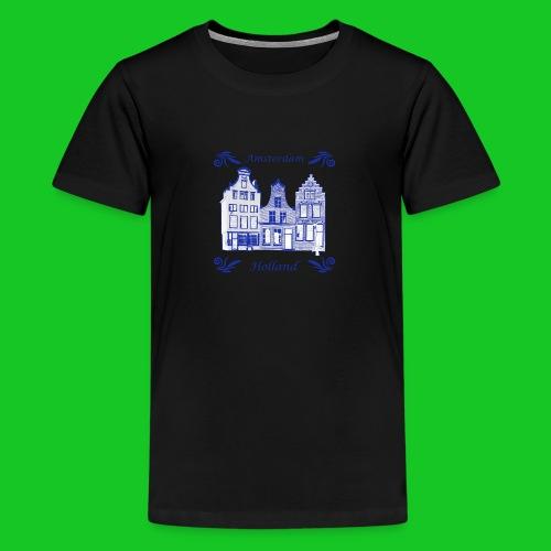 Holland Grachtenpanden Delfts Blauw - Teenager Premium T-shirt