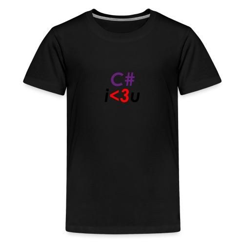 C# is love - Maglietta Premium per ragazzi