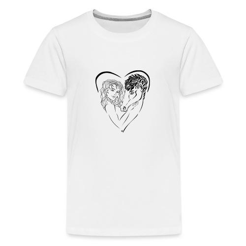 Cheval cavalière passion ❤ FC - T-shirt Premium Ado