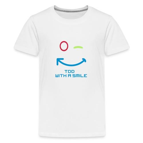 TDD met een glimlach - Teenager Premium T-shirt