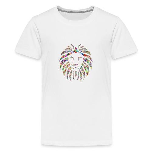 Ausdruck des Löwen - Teenager Premium T-Shirt