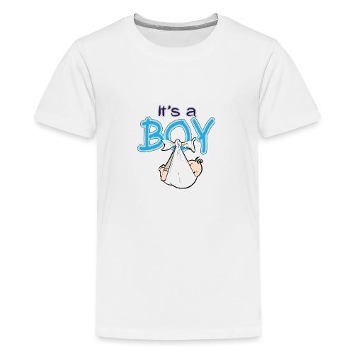 Babyshower Boy Blauw - Teenager Premium T-shirt