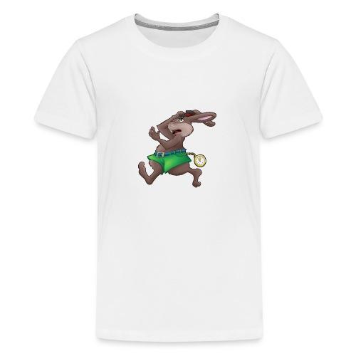Zu Spät! - Hase mit Uhr - Teenager Premium T-Shirt