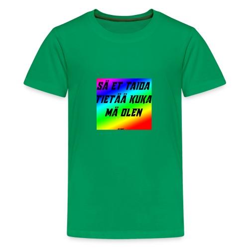 kuka olen - Teinien premium t-paita
