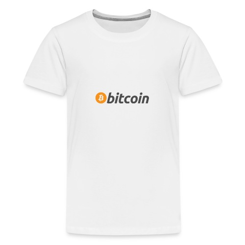 Bitcoin Logo - Teenage Premium T-Shirt