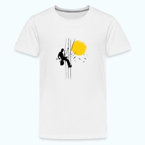 Minimal moon drawing - Teenage Premium T-Shirt