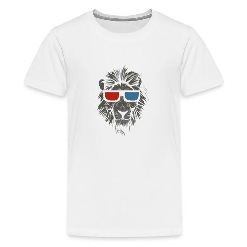 Lion 3D - Premium-T-shirt tonåring