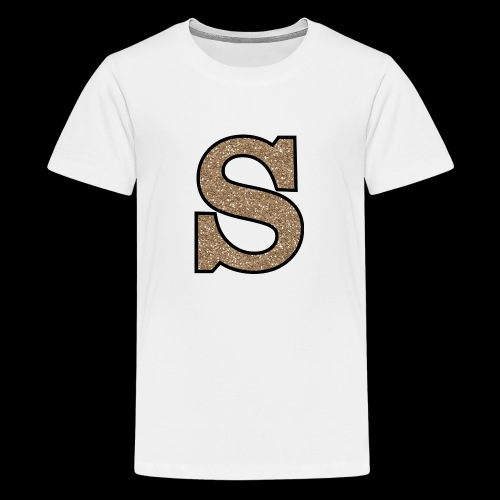 Girls S For Sonnit Golden Sparkle - Teenage Premium T-Shirt