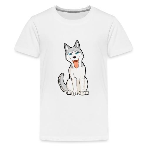 Husky grigio occhi azzurri - Maglietta Premium per ragazzi
