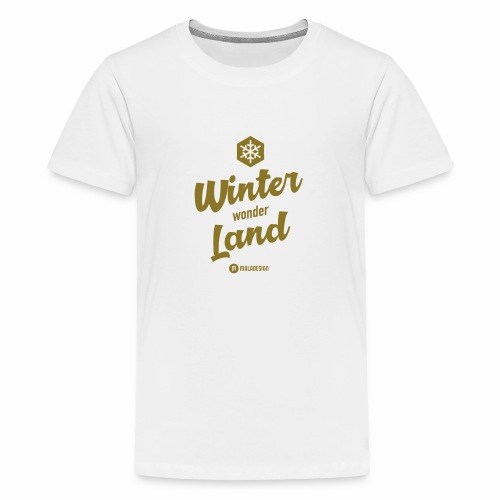 Winter Wonder Land - Teinien premium t-paita