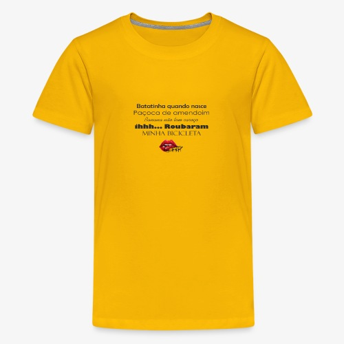 Minha bibicleta - Teenage Premium T-Shirt