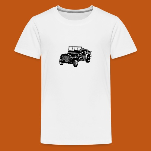 Geländewagen / Jeep SUV 02_schwarz weiß - Teenager Premium T-Shirt