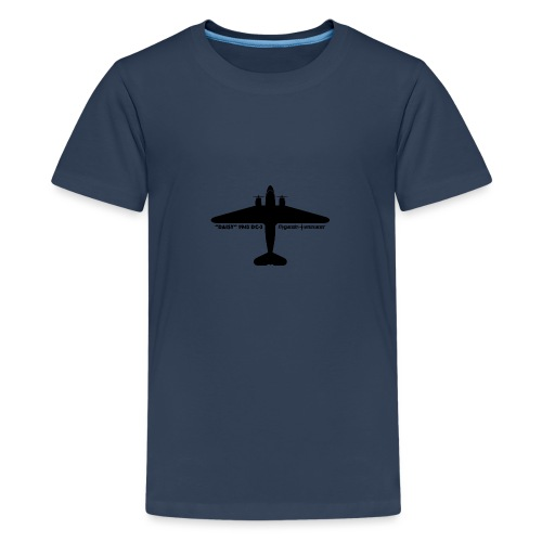 Daisy Silhouette Top 1 - Premium-T-shirt tonåring