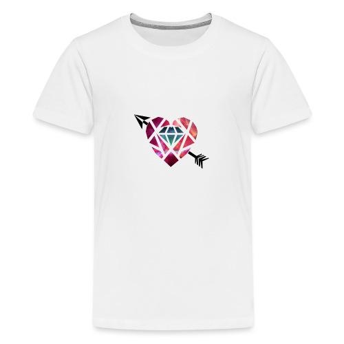 Heart Galaxy - Camiseta premium adolescente