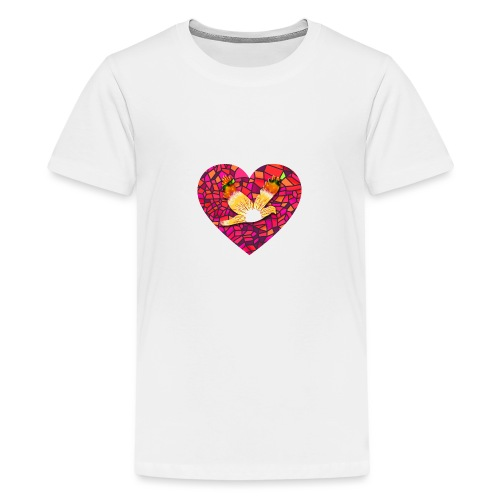 Make your heart fly with peace - Teenage Premium T-Shirt