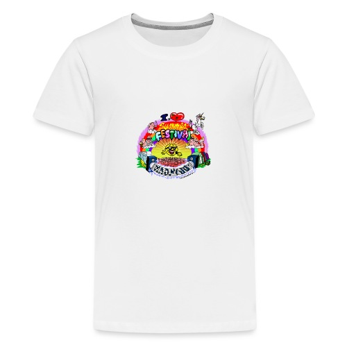 I LOVE summer festival madness - Teenager Premium T-Shirt