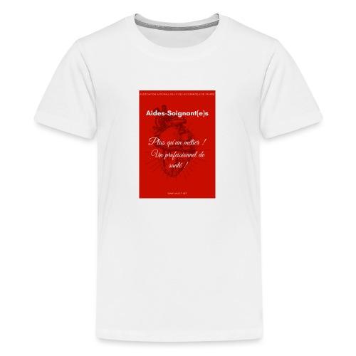 Association Nationale des aides soignant e s de fr - T-shirt Premium Ado