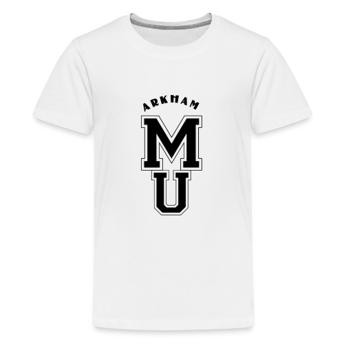 Miskatonic Ecusson Black - T-shirt Premium Ado
