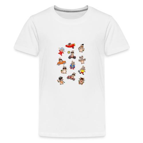 Lustiges Hasenwimmelbild - Teenager Premium T-Shirt
