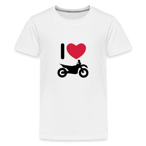 I love biking - Teenager Premium T-Shirt