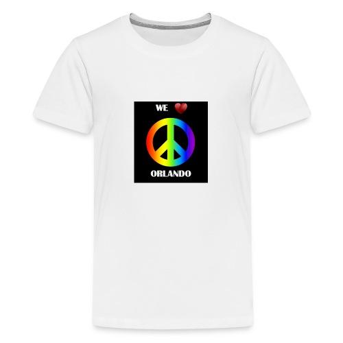 ORLANDO PEACE BLACK - Teenage Premium T-Shirt