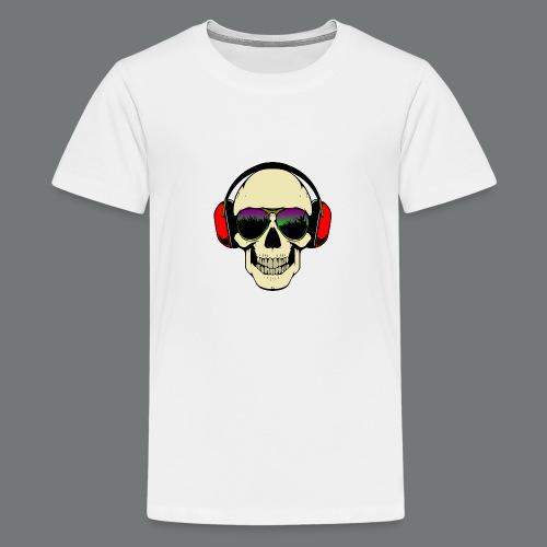 skull dj - Teenage Premium T-Shirt