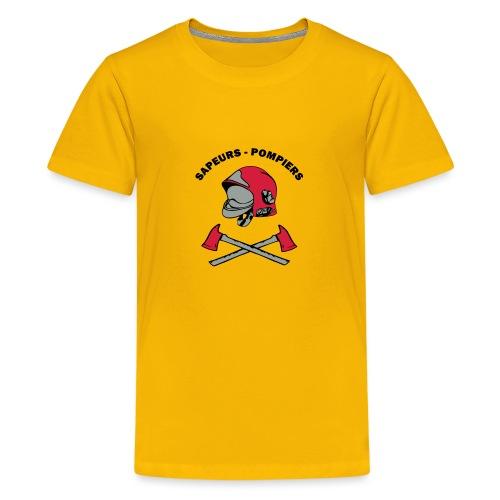 Sapeurs Pompiers petites haches casque Coul - T-shirt Premium Ado