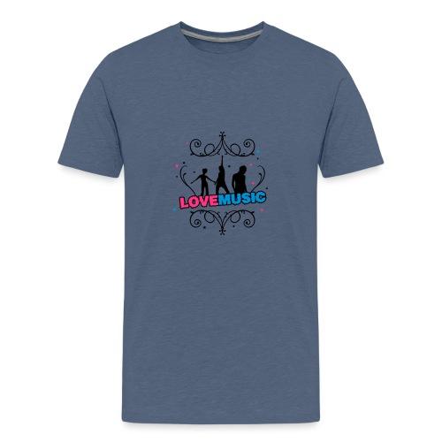 Motif Love Music - T-shirt Premium Ado