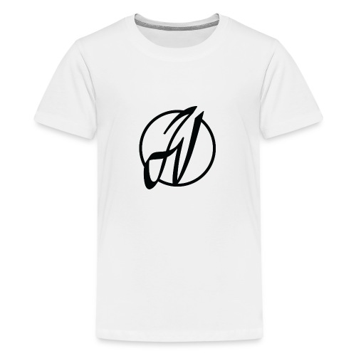 JV Guitars - logo noir - T-shirt Premium Ado