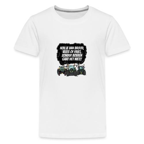 boeren tshirt F - Teenager Premium T-shirt