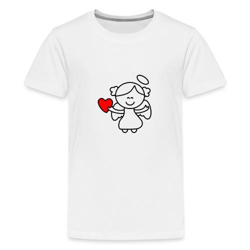 Lykkeengel - Premium T-skjorte for tenåringer