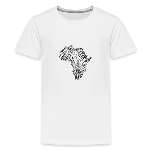 Africa in a cheetah camouflage - Teenager Premium T-Shirt