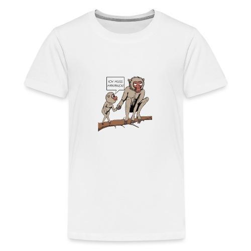 Halts Maul Mike - Makaken - Teenager Premium T-Shirt