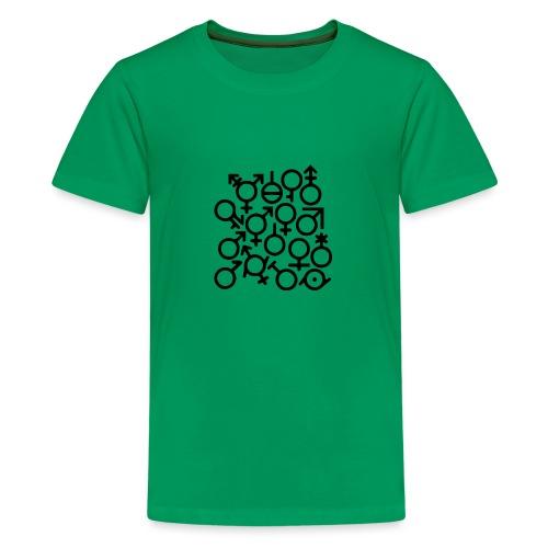 Multi Gender B/W - Teenager Premium T-shirt