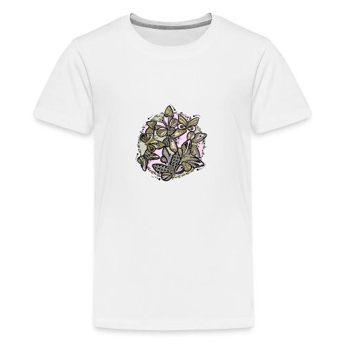 Schmetterlings-Tanz - Teenager Premium T-Shirt