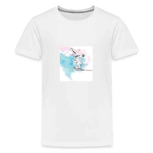 Skiing - Teenage Premium T-Shirt
