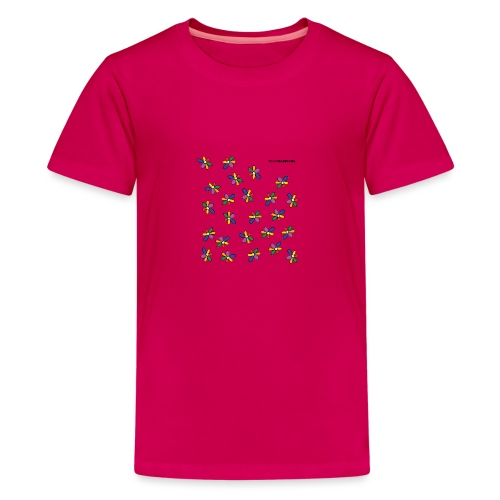 colour flower design tc - Teenage Premium T-Shirt