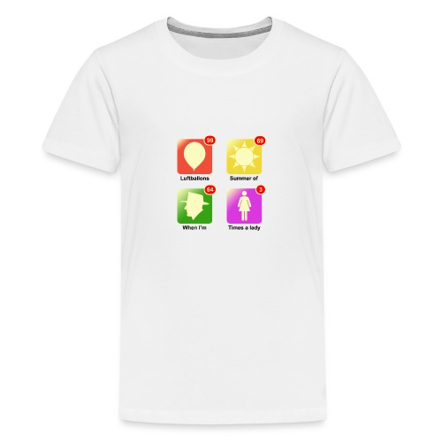 muziek apps - Teenager Premium T-shirt