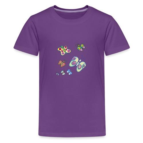 Allegria di farfalle - Maglietta Premium per ragazzi