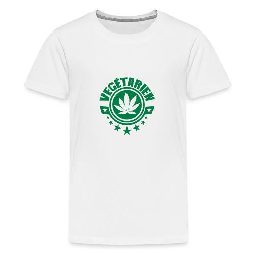 vegetarien feuille cannabis logo - T-shirt Premium Ado