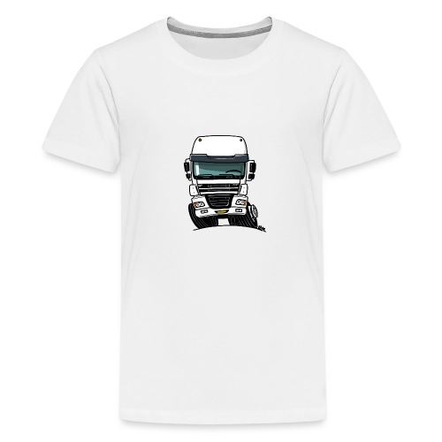 0810 D truck CF wit - Teenager Premium T-shirt