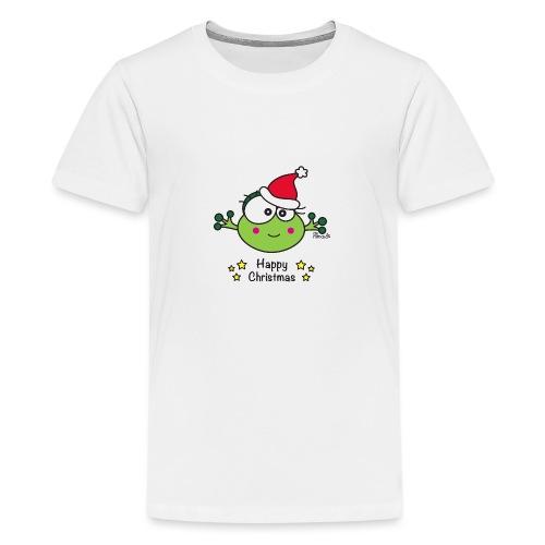 Grenouille F, Frog, Fêtes Nôel, Happy Christmas - T-shirt Premium Ado