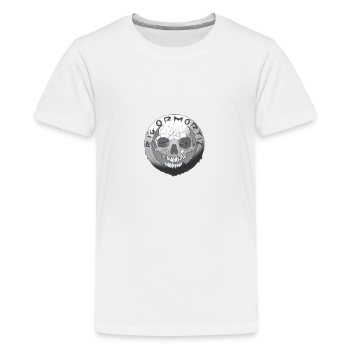 Rigormortiz Black and White Design - Teenage Premium T-Shirt